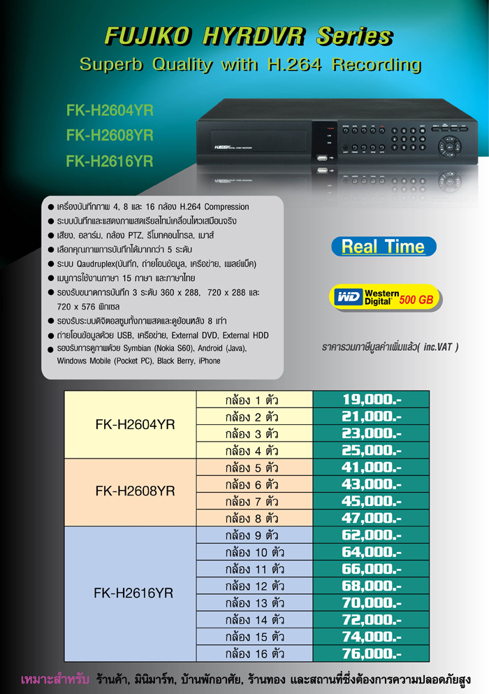 FUJIKO CCTV DVR FK-H2616YR